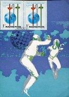 50657 Hungary  Maximum 1975  , Fencing  Fechten  Escrime, - Escrime