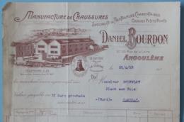 16 CHARENTE ANGOULEME LOT DE 3 FACTURES CHAUSSURES BOURDON 1925 - France