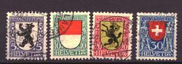 Switzerland / Suisse / Schweiz / Helvetia / Zwitserland 209 T/m 212 Used (1924) READ - Suiza