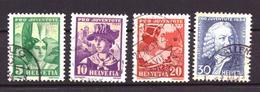 Switzerland / Suisse / Schweiz / Helvetia / Zwitserland 281 T/m 284 Used (1934) - Suiza