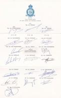 Autographe Pilotes Avion Aviation 350e SON - Documenten