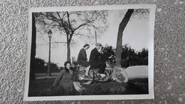 PHOTO ANCIENNE - MOTO - HOMME FEMME COUPLE - Automobile
