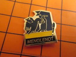 0120 Pin's Pins / Beau Et Rare  / THEME ANIMAUX / MENGLENOT STYLO PLUME OISEAUX MAZOUTES ? - Animaux