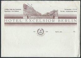 Deutschland / Germany: Hotel Excelsior Berlin  1939 / Rechnung Leer - 1900 – 1949