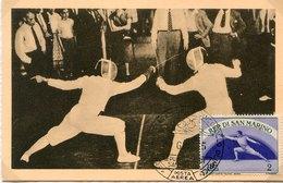 50661  San Marino , Maximum 1955  Fechten  Fencing  Escrime, - Escrime