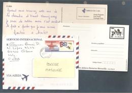 Cuba, Entier Postal, 2 Cartes, 1 Enveloppe, Hemingway, Papilon, Oiseau - Cuba
