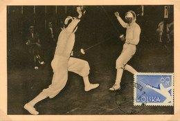50662  Poland , Maximum 1958  Fechten  Fencing  Escrime,  Florettfechten - Escrime