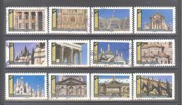 France Autoadhésifs Oblitérés N°1671 à 1682 (Série Complète : Histoire De Styles Architecture) (cachet Rond) - France