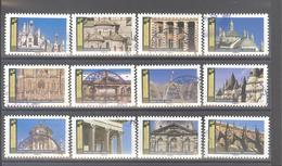 France Autoadhésifs Oblitérés N°1671 à 1682 (Série Complète : Histoire De Styles Architecture) (cachet Rond) - Used Stamps