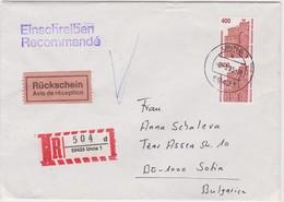 BRD Einschreiben Für Bulgarien   1995 - [7] Federal Republic