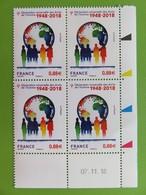 Timbre France YT 5290 - 70ème Déclaration Universelle Des Droits De L'homme - Coin Daté - 07.11.18 - 2018 - NEUF - Coins Datés