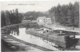 45 CHATILLON SUR LOIRE  Péniche Beau Plan - Le Canal - Chatillon Sur Loire