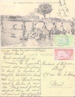 CARTE-POSTALE. 226 12 19. FEMMES AU BORD DU FLEUVE. GRAND-BASSAM COTE D'IVOIRE. PAQUEBOT. MATADI A BORDEAUX N° 2 - France (former Colonies & Protectorates)