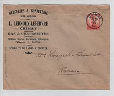 CBPND35/ TP 123 Pellens S/L.Publicitaire Lernoux-Lefebvre Chimay C.Chimay 12/6/14 > Macon - 1912 Pellens