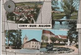 52- Carte Postale Semi Moderne Dentelée De  GIEY SUR AUJON     Multi Vues - France