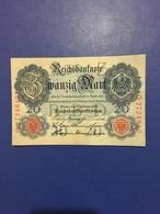 GERMANY  BANKNOTE 20 MARK 1914  UNC - [ 2] 1871-1918 : Duitse Rijk