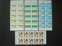 MAURITANIA 1982-1985 3 SETS X10 MNH** 2 SCANS - Mauritanie (1960-...)