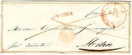 ITALIE Lettre Avec Decoration Type VALENTINE De MANTOVA à Milan ( Filets OR ) Italia - ...-1850 Préphilatélie
