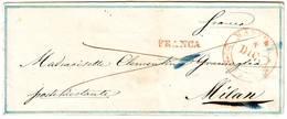 ITALIE Lettre Avec Decoration Type VALENTINE De MANTOVA à Milan ( Filets BLEUS ) Italia - ...-1850 Préphilatélie