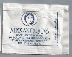 Suikerzakje.- PLAKA ATHENS GREECE. ALEXANDROS. CAFÉ RESTAURANT. Suiker Sucre Zucchero Zucker Sugar - Suiker