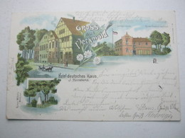 VERSMOLD , Gasthof ,Seltene Karte Um 1898 - Versmold