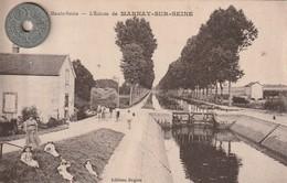 52- Carte Postale Ancienne De  MARNAY SUR SEINE   L'Ecluse - Francia