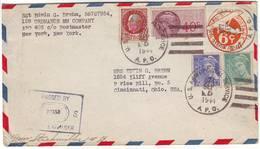 GUERRE DE 40 , Curieuse Lettre D'un Militaire Americain ( APO 577 ) Pour Les USA , VRAI COURRIER CENSURE 1944 - Marcophilie (Lettres)