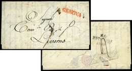 Italy: Genova. Disinfection Cover, 1835. - Italy