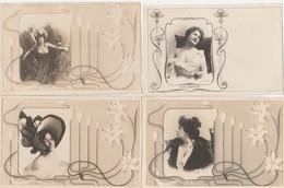 "4 CPA:""REUTLINGER"" DESPREZ,DOUVREZ,WANDA DE BONCZA,ALICE BONHEUR - Künstlerkarten"