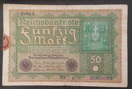 EBN8 - Germany 1919 Banknote 50 Mark Pick 66 #S.69962 - [ 3] 1918-1933 : República De Weimar