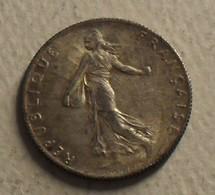 1917 - France - 50 CENTIMES, Semeuse, Argent, Silver, KM 854, Gad 420 - G. 50 Centimes