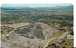 CP-Mexique- San Juan Teotihuacan - Vista Aera De La Piramide Del Sol (écrite) - Mexiko