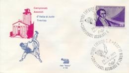 Italia 1971 Annullo Speciale Su Busta Treviso Campionati Assoluti Italiani Di Judo - Judo