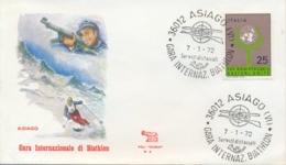 Italia 1972 Annullo Speciale Su Busta Asiago Gara Internazionale Di Biathlon - Winter (Other)