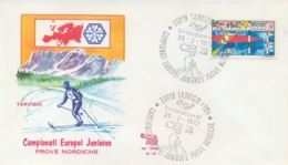 Italia 1972 Annullo Speciale Su Busta Tarvisio Campionati Europei Juniores Prove Nordiche - Winter (Other)