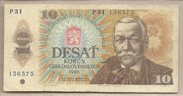 Cecoslovacchia - Banconota Circolata Da 10 Corone P-94b - 1986 #18 - Cecoslovacchia