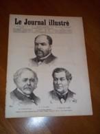Le Journal Illustré 1878 N° 50 Du 8 12 1878 Portraits Baragnon Haussonville , Temple Protestant Belleville , Caves Minis - 1850 - 1899