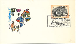Gibraltar Cover With Special Postmark Nordfrimex 83 On EUROPA CEPT Stamp 3-6/11-1983 - Gibraltar