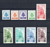 E20 - Lebanon 1953 Complete Set 9v. MNH - Cedar Tree And Post House - Rare Set - Syria