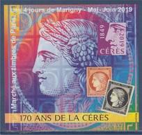 = Bloc Gommé Carré Marigny Les 4 Jours De Mai 2019 Marché Aux Timbres De Paris 170 Ans De Cérès Non Dentelé 1662 - CNEP