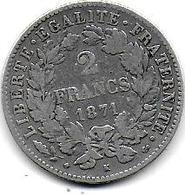 Cérès  - 2 Fr  1871 K - France
