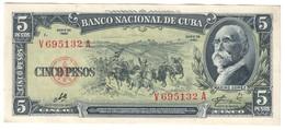KUBA5PESOS1960P91XF+.CV. - Cuba