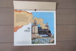 Kalender 1986 Belgische Spoorwegen Train Trein Hergé, Tintin, Suske En Wiske, Lucky Luke - Livres, BD, Revues