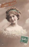 CPA Fantaisie - Portrait Femme - Anniversaire - Women