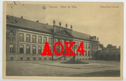 TOURNAI 1917 Hotel De Ville Occupation Allemande Etappen Kommandantur Feldpost Stempel Cachet Hainaut - Tournai