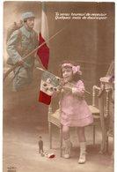 MILITARIA 463 : Tu Seras Heureux De Recevoir Quelques Mots De Doux Espoir ( Fillette Jouet Petit Soldat , Petite Poupée - Manoeuvres