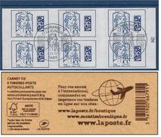 """FR Carnet Adhésif YT 1176 """" Marianne Et La Jeunesse, International """" FDC Paris 4.09.2016 - Definitives"""
