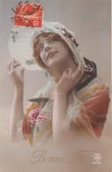 CPA Fantaisie - Portrait Femme - Chapeau - Women