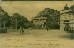 POLAND - WROCLAW / BRESLAU - SCHEITNIG EINGANG ZUM PARK - EDIT DR. TRENKLER - MAILED TO ITALY - 1900s  (7244) - Poland
