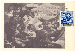 MADRID LUCHA DEJACOB Y EL ANGEL  JOSE MARIA SERT  MAXIMUM POST CARD1966  (GENN200835) - Cartoline Maximum